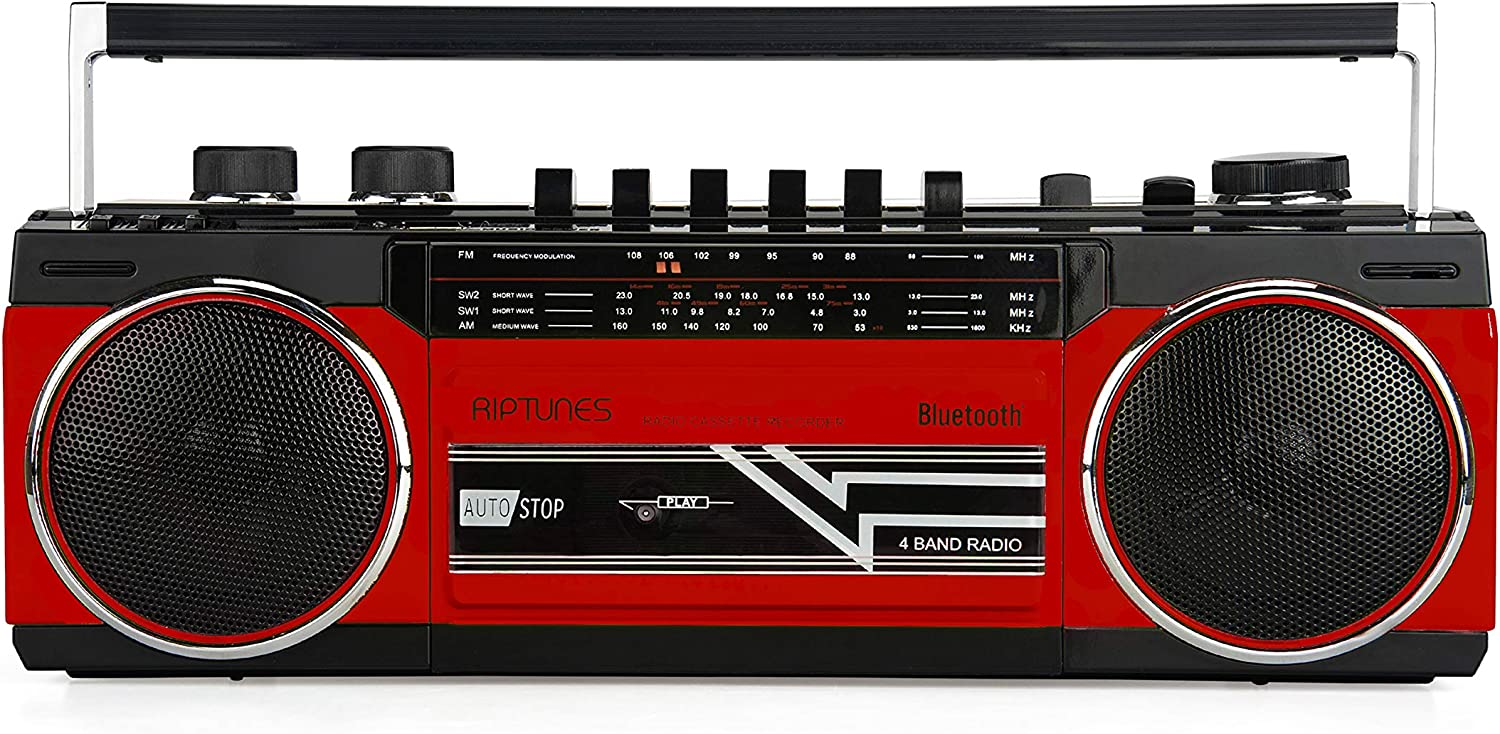 Riptunes Max 46% OFF Cassette Boombox In a popularity Play Blueooth Retro