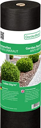 GardenMate Rouleau Toile Anti-Mauvaises Herbes 1x50m en Non tissé 50g/m2