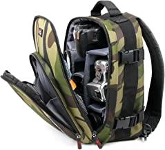 DURAGADGET Camouflage Water-Resistant Backpack with Customizable Interior & Raincover - Suitable for Energy Sistem Music Box BZ3