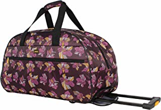 Lucas Luggage 22 Inch Printed Rolling Carry-On Suitcase Wheeled Duffel