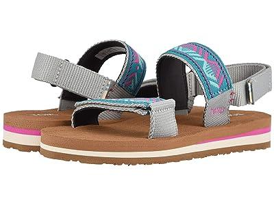 TOMS Kids Ray (Little Kid/Big Kid) (Drizzle Grey Global Webbing) Girls Shoes