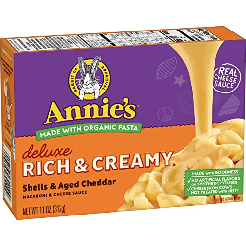 Annie's Shells & Real Aged Cheddar Macaroni and Cheese (Pack of 12)