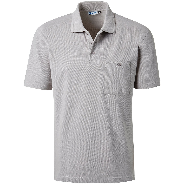 PIONIER 1/2-inch brazo polo Shirt, gris, 2868-S: Amazon.es ...