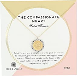 Dogeared - The Compassionate Heart Two-Tone St. Francis Necklace