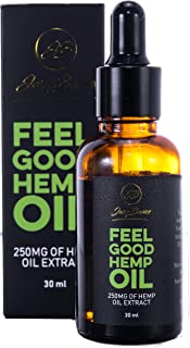 Feel Good Hemp Oil Extract for Pain Relief - Soothes Chronic & Acute Pain - Anxiety & Stress Relief - Proven Neuropathy Treatment - 1 FL Oz (30 ml)