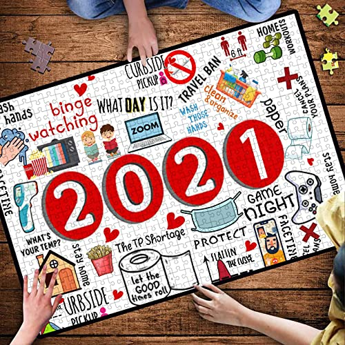 new arrival OPTIMISTIC Puzzle for Adults 500 Pieces -2020 Quarantine Themed Puzzles - DIY online Puzzle Game Collection - 500 outlet online sale Pieces Jigsaw Puzzle, 27x19In, Creative Holiday Decor to Memorialize This Difficult Year sale
