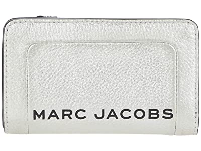 Marc Jacobs The Metallic Textured Compact Wallet (Platinum) Wallet Handbags