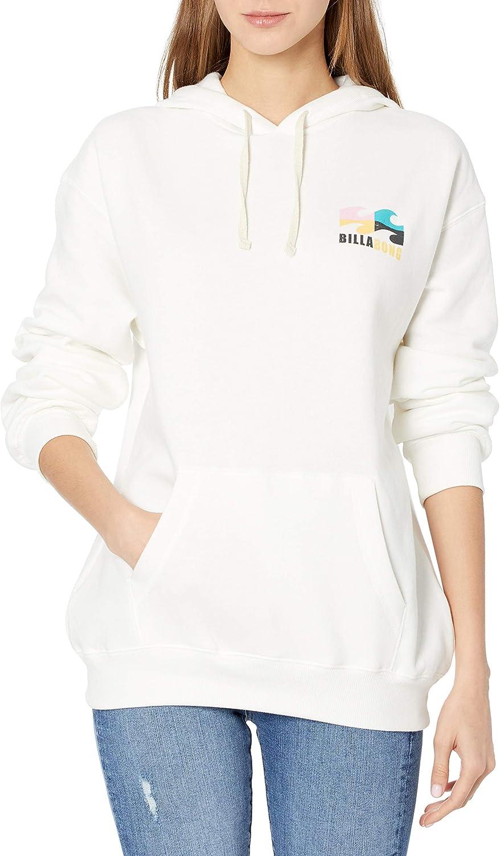 Over item handling ☆ Billabong Women's Graphic Pullover Sweatshirt Fleece half Hoodie