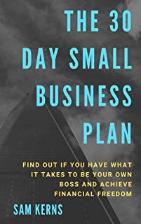 The 30 Day Small Business Startup Plan: Find Out if You Have What it Takes to Be Your Own Boss and Achieve Financial Freedom: (Work from Home Series: Book 8)