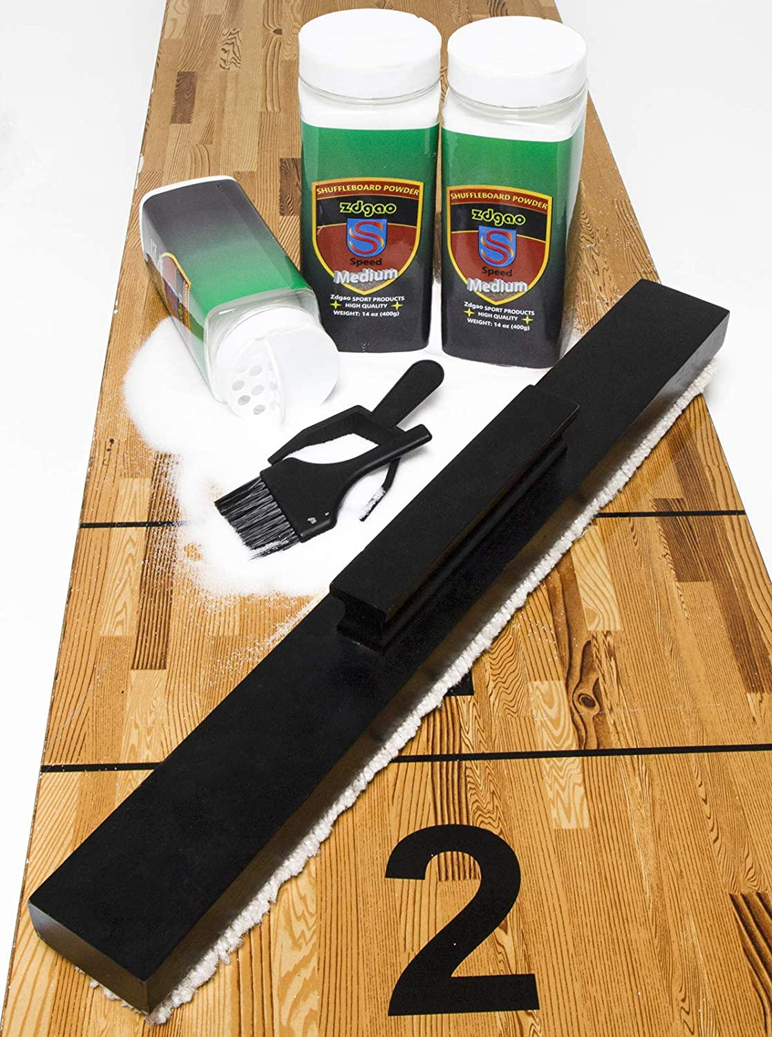 Shuffleboard Sand with Brush Max 69% OFF New arrival Set Wax -