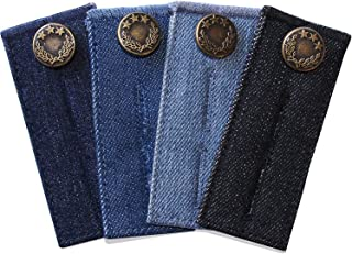 4 Pack Denim Waist Extender Button for Jeans and Skirt Comfy Metal Buttons Assorted Colors