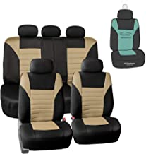 FH Group FB068115 Premium 3D Air Mesh Seat Covers (Beige) Full Set with Gift - Universal Fit for Cars, Trucks & SUVs