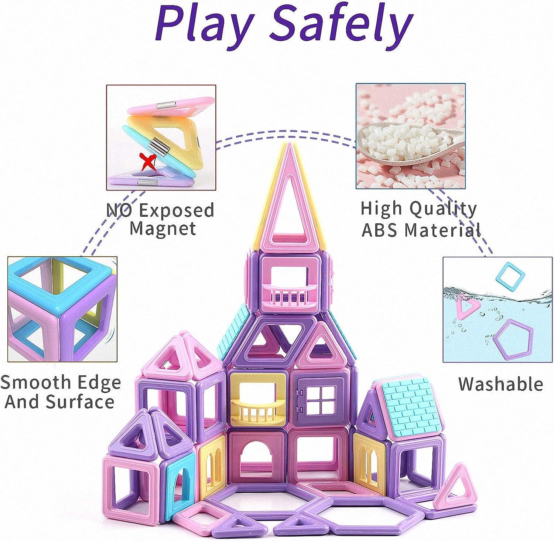ASOK 197 Pcs Magnetic Blocks Mini Castle 3D Building Tiles Edutainment Toys...