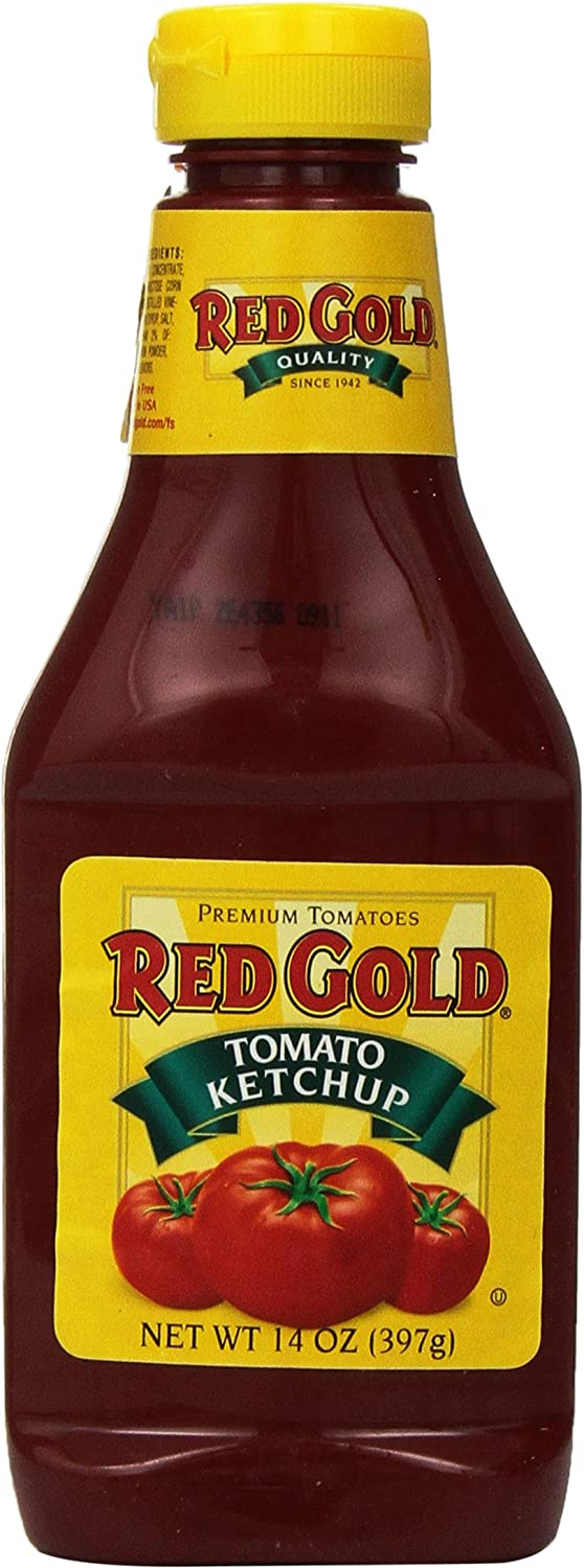 Red Gold Tomato Ketchup Squeeze Bottle 3 Ounces Award Pack 14 of Free Shipping Cheap Bargain Gift