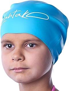Czepek pływacki dla dzieci, długie włosy, czepek pływacki dla dziewcząt, chłopców, dzieci, nastolatków, z długimi, kręcony...