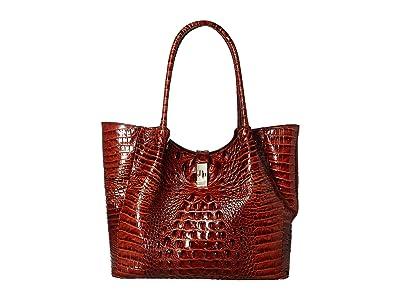 Brahmin Medium Mallory Tote (Pecan) Tote Handbags