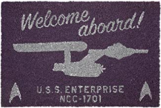 STAR TREK Welcome Aboard! Paillasson Unisexe Multicolore en PVC, 40 x 60 cm