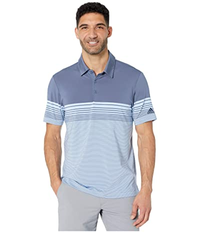 adidas Golf Ultimate Gradient Block Stripe Polo (Tech Ink) Men