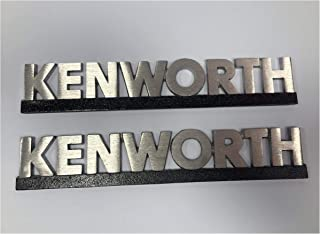 Kenworth Hood Letters Emblem Aluminum (Two Pieces)