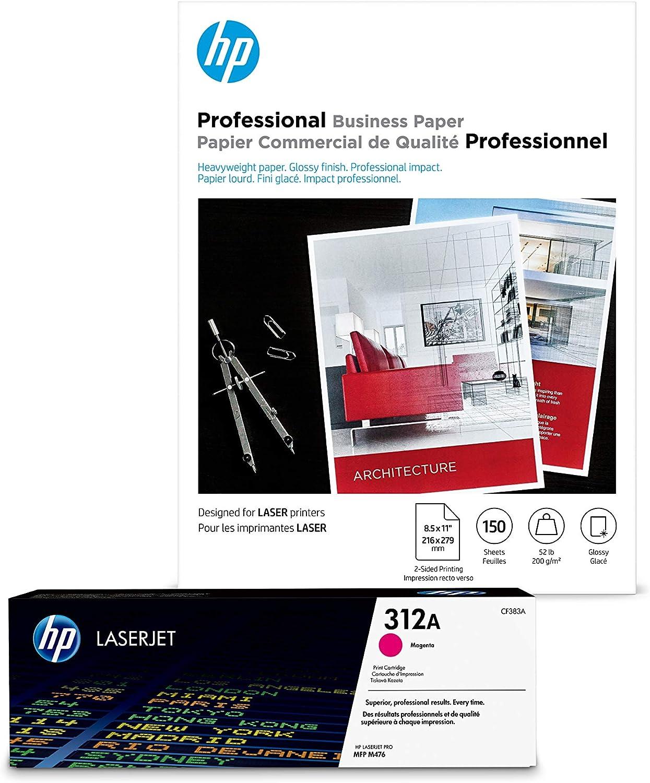 HP 312A Store Magenta Toner + Brochure Paper Laser Max 58% OFF x Glossy 8.5