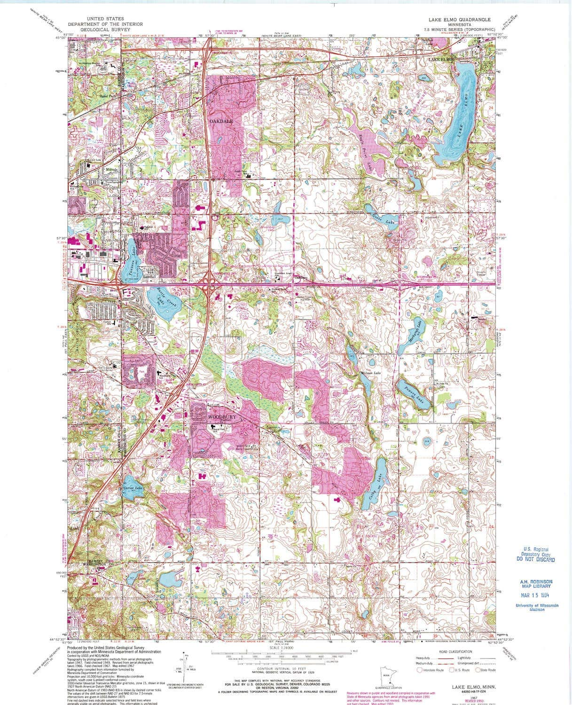 YellowMaps Lake Elmo MN topo Ultra-Cheap Deals map Minut Scale Classic X 1:24000 7.5