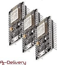 AZDelivery 3 x Módulo WiFi NodeMCU Lua Amica V2 ESP8266 ESP-12E WiFi Placa de Desarrollo con CP2102 para Arduino con eBook incluido