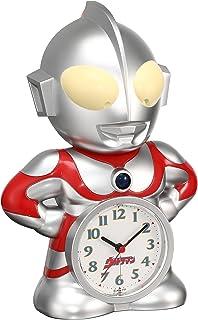 セイコー クロック 目覚まし時計 ウルトラマン キャラクター型 おしゃべり アラーム アナログ JF336A SEIKO シルバー 23.7×16.7×12cm