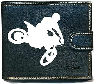 Marron Biker Bourse Portefeuille avec chaîne Extérieur Fermeture LEAS Mcl Dans Vintage Cuir