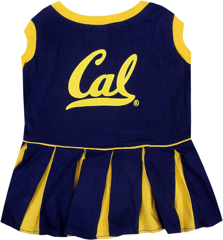 NCAA CALIFORNIA goldEN BEARS BERKELEY Dog Cheerleader Outfit, Medium