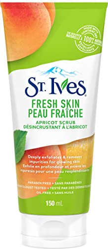 St. Ives Fresh Skin Facial Scrub for clear, glowing skin Apricot dermatologist tested 150 ml