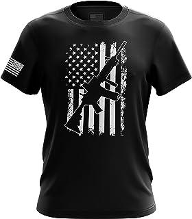 Pro-Gun Second Amendment American Flag Don`t Tread Mens T-Shirt Printed & Packaged in The USA