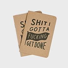 Sht I Gotta Fking Get Done Notebooks (2-Pack) - Todo List Notepad