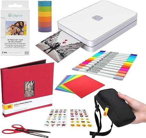 discount Lifeprint online sale 2x3 Portable Photo and Video Printer outlet sale (White) Scrapbook Edition sale