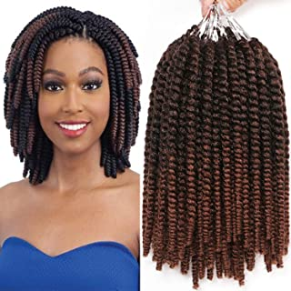 8 Inch Havana Mambo Twist Crochet Hair Tight and Bouncy 7 Packs Short Senegalese Twist Hair Crochet Braids 15 Strands/Pack (T1B/30#)
