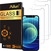 Ailun Glass Screen Protector Compatible for iPhone 12 mini 2020 5.4 Inch 3 Pack Tempered Glass 2.5D Edge Anti Scratch Work...