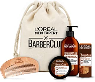L 'Oréal Men Expert Barber Club Premium Cadeauset, Baardverzorgingsset Met Baardshampoo, Baardolie, Baardstyling Pomade En...