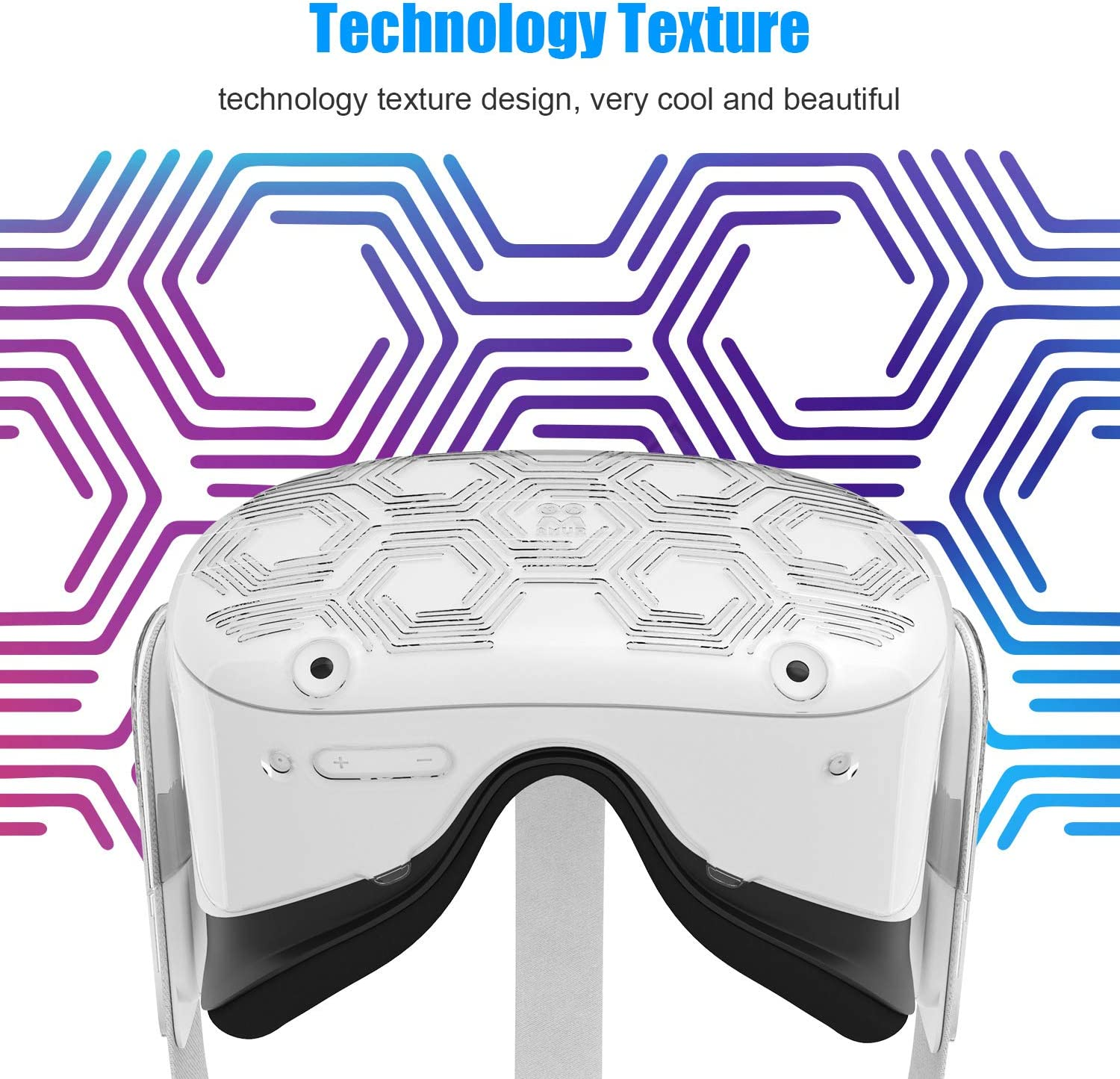 Light /& Durable Front Face Cover for Oculus Quest 2 Accessories Black AMVR VR Headset Protective Shell Preventing Collisions and Scratches