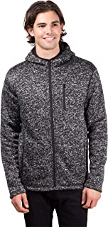 Brooklyn Surf Men's Full Zip Hoodie Sherpa Lined Fleece Hooded Sweatshirt Jacket