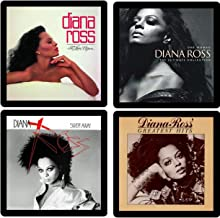 Diana Ross Collectible Coaster Gift Set #1 ~ (4) Different Album Covers Reproduced on Soft Pliable Coasters