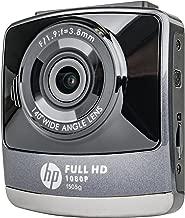 HP F505G 1080P Dash Cam Wide Angle Lens w/Lane Departure Warning System Black