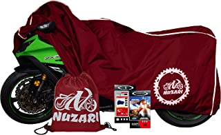Premium Grade Weather Resistant Motorcycle Covers. Waterproof High Grade Polyester w/Soft Screen & Heat Resistant Shield Lockable fabric, Durable & Long Lasting. Sportbikes & Cruisers (medium,red)