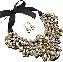 d175068ab Holylove 5 Colors Costume Statement Necklace for Women Jewelry Fashion  Necklace 1 Set with Gift Box