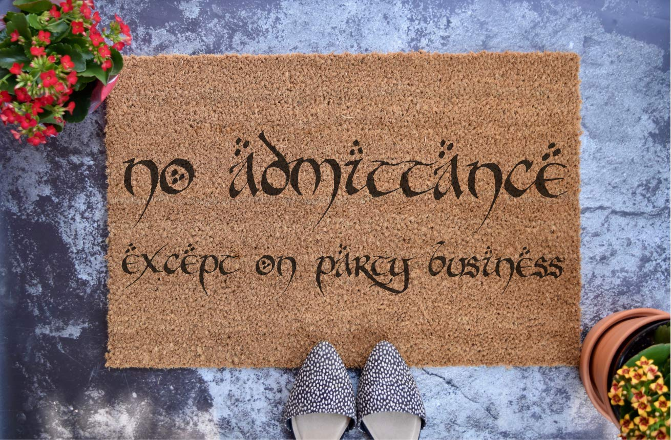 No Admittance Except on Party Business Instant Download Sign Tolkien Gift Lord of the Rings Decor LOTR Party