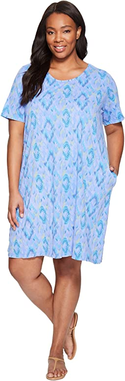 Extra Fresh by Fresh Produce - Plus Size Sunset Sky Allure T-Shirt Dress