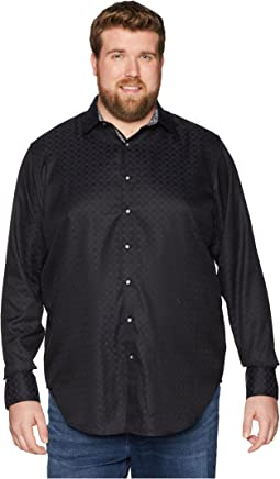 Robert Graham Big & Tall Diamante Long Sleeve Woven Shirt