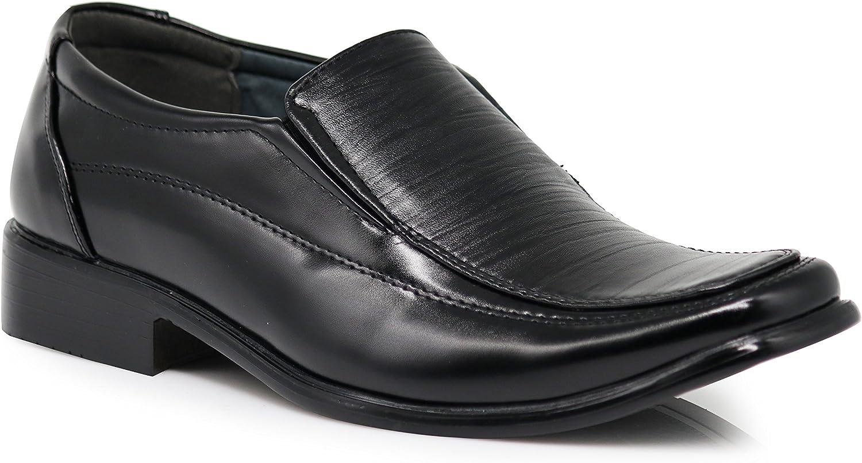 Enzo Romeo CRLO Men's Classic  Design Fashion Plain Slip On Loafers Dress shoes
