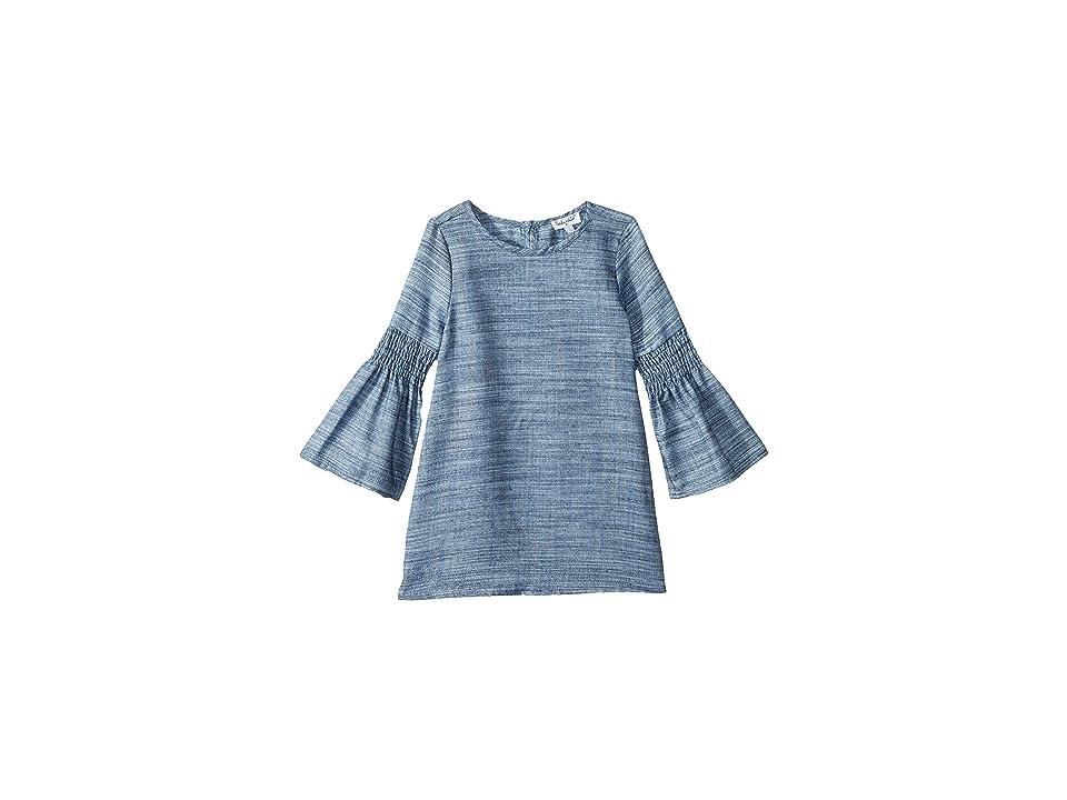 Splendid Littles Bell Sleeve Midi Dress (Toddler) (Denim) Girl