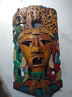 Máscara arqueológica, grande, madera decorativa,