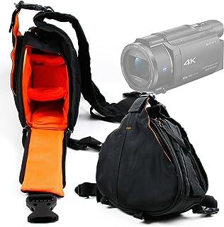 DURAGADGET Bolso Cruzado/Al Pecho para Videocámara Sony Handycam FDR-AX53 | HDRAS50B.CEN | HDRCX625B.CEN | SEREE HDV-S5 + Funda Impermeable - Unisex