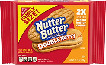 Nutter Butter Double Nutty Peanut Butter Sandwich Cookies, 12 Pack (15.27 Oz.), 12Count